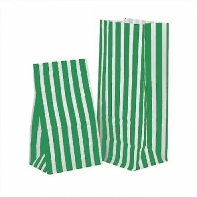 GREEN PICK 'n' MIX Candy Stripe Gift Wedding Paper Party Bags Sweets 11cm x 25c