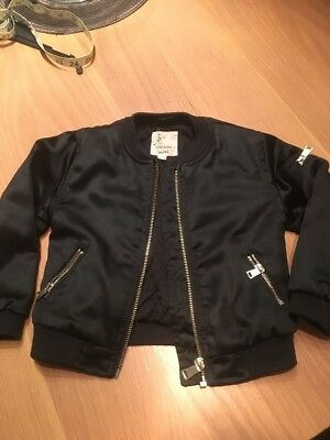 River Island Mini Black Bomber Jacket, 18-24months