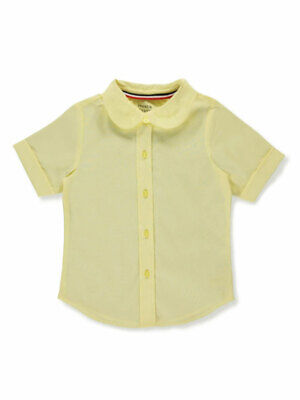 French Toast Little Girls' S/S Peter Pan Fitted Shirt (Sizes 4 - 6X)