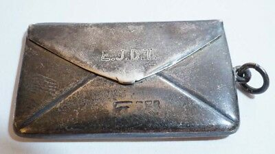 E669 Stunning British Sterling Letter Shaped Double Row Stamp Holder FOB