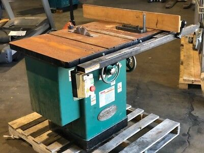 """Grizzly G1023SLWX3 10"""" 5 HP Left Tilt Cabinet Saw Year 2007"""