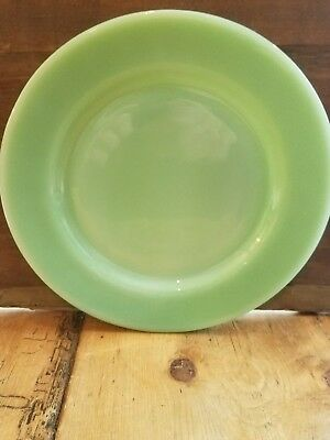 "Vintage Fire King  Oven Ware Jadite 9"" Plates Set Of 4"