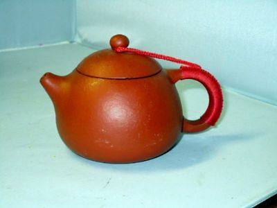 Cute 8oz Yixing Chinese Teapot w/ Red Cord