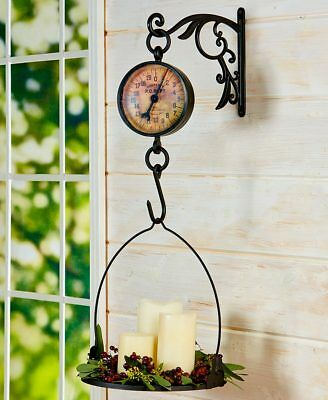Primitive Country Kitchen Antiqued Metal Hanging Mercantile General Store Scale