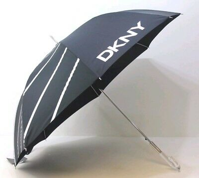 New - DKNY / Donna Karen New York Large Umbrella With Clear Glass Looking Handle