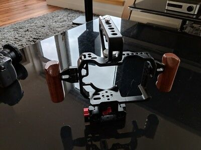 Came-TV Cage for Panasonic GH4 with Rail Mount / Quick Release & Wooden Handles
