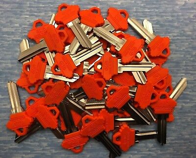 KW1 50 Pieces Yellow Plastic Head Residential Key Blanks for Locksmith