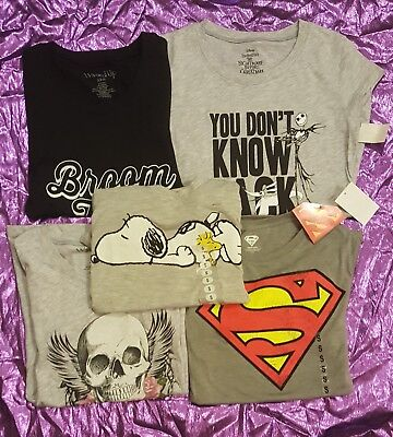 Woman's size small lot of GREAT graphic tee shirts! ALL NEW WITH TAGS! DEAL! NWT