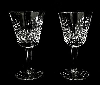 """Pair of Waterford Crystal LISMORE Claret Wine Glasses, 5 7/8"""" Tall"""