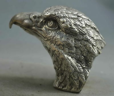 Collection Handwork Old Miao Silver Carve Hunting Eagle Exorcism Souvenir Statue