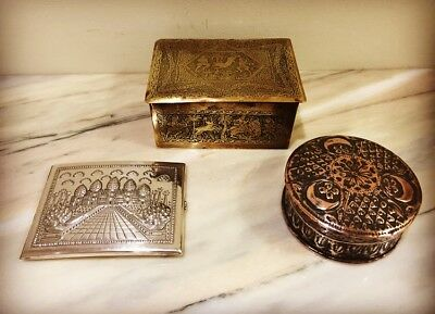 Antique 3 Persian Indian Middle Eastern Boxed
