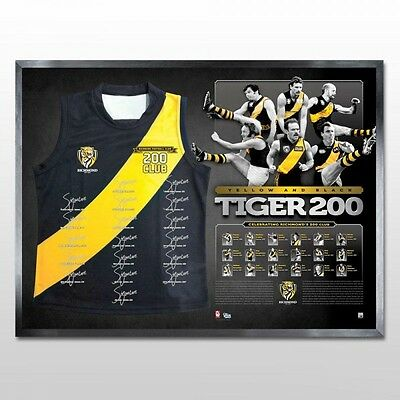 200 Games Limited Edition Hand Signed Richmond Tigers Jersey Richo Tigerland Afl