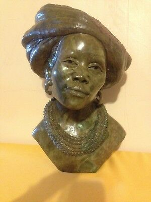 James Tandi  Verdite Shona Stone sculpture from Zimbabwe, Big at 28 lbs 13""