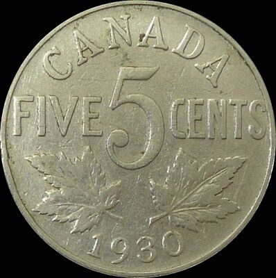 Canada / 1930 / 5 Cents / King George V / Km# 29