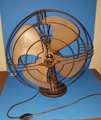 "Vintage GE General Electric 272902-1 Vortalex Fan 17"" Repair Needed"
