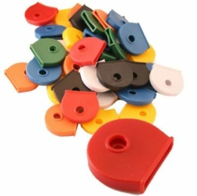 Coloured KEY TOP COVERS Head Caps Tags ID Markers MIXED COLOURS TOPPERS Identifi