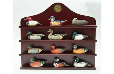 Jett Brunet Ducks Unlimited Decorative Miniature Duck Decoy Shelf - NEW!