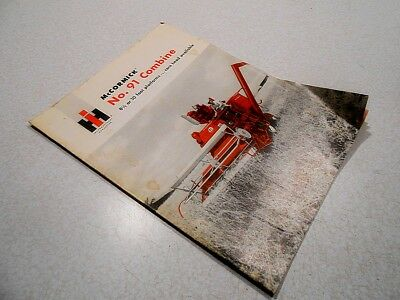 International Harvester: McCormick No. 91 Combine, Rare 16 Page Brochure
