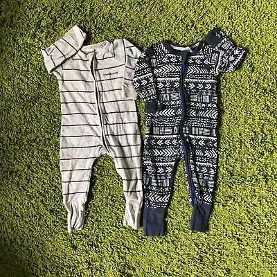 2 Bonds Zippy Wondersuit size 0 (6-12 months) in good used condition