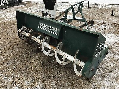 Speed KIng 3 point hitch snowblower 540 pto cat I-II 82in  tractor skid loader