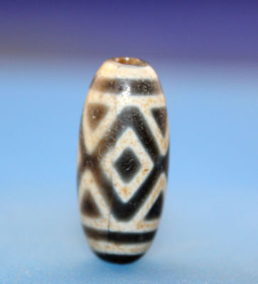 24*11 mm Antique Dzi Agate old 3 eyes  Bead from Tibet **Free shipping**