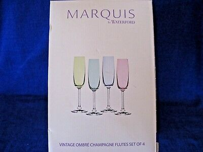 Waterford - Marquis - Set 4 Vintage Ombre Champagne Flutes