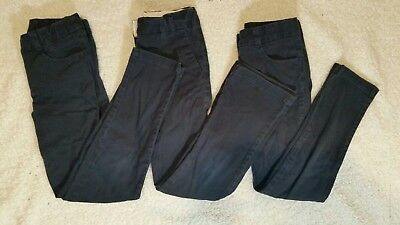 Girls Navy Pants Size 7 Dockers Navy Blue Skinny Adjustable Waist LOT of 3