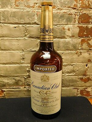 Canadian Club Whisky ~1 Gallon~Army Mess Open Mess~Empty Bottle w/Lid~Ships Free