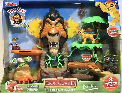 Disney® Junior's The Rise of Scar Lion Guard Playset - includes Kion & Janja NEW