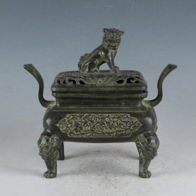 Chinese Rare Bronze Lion Incense Burner Made During The Da Ming Xuande HST0034