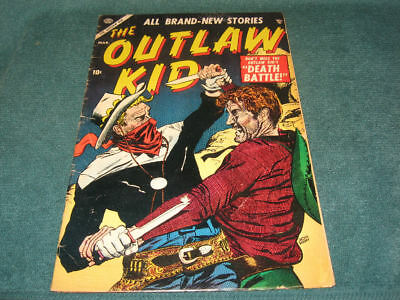 1955 Atlas/Marvel Western THE OUTLAW KID #4 Classic Doug Wildey Cover!!!