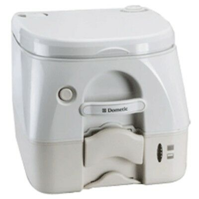 Dometic - SeaLand 974MSD Portable Toilet 2.6 Gallon - Tan w/Brackets