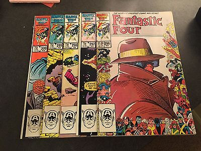 Fantastic Four 5 Book Lot - Issues 296, 297, 298, 299, 300 - 9.6 Near Mint+