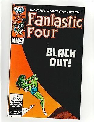 Fantastic Four #293 - Black Out! She Hulk Cover - 9.6 Near Mint + High Res Scans