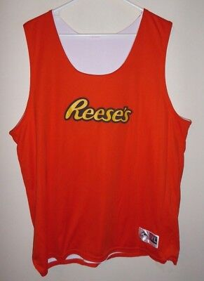 REESE'S adult xl JERSEY hershey chocolate peanut butter cup pieces REVERSIBLE!!
