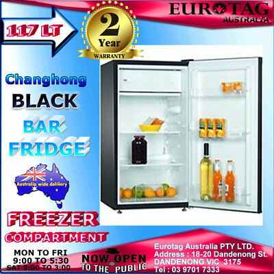Changhong 117L Stainless Steel White Black Bar Fridge brand new 2 years w.