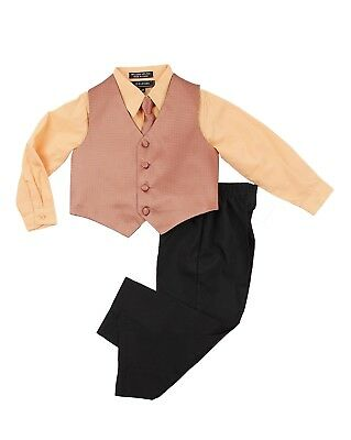 Caldore Boys Orange shirt Vest Set suit outfit Size 18M Easter suit