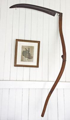 Antique Hand Large Scythe Sickle England Sheffield Reaper Tool Farming