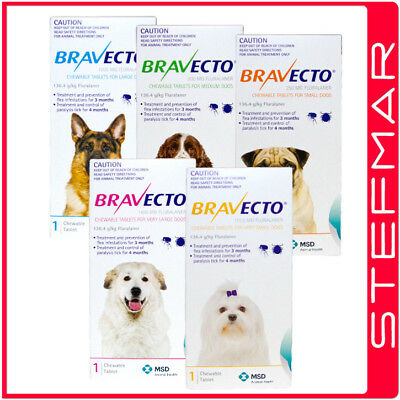 Bravecto for Dogs Small Medium Large Chews