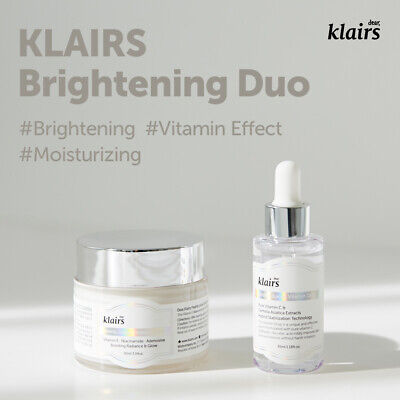 KLAIRS Freshly Juiced Vitamin Line (Vitamin Drop + Vitamin E Mask) acne brighten