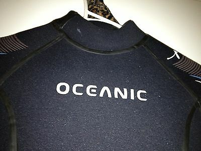 Oceanic 5mm semi dry wetsuit As New Size 8/10