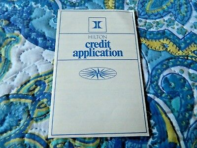Vintage Hilton Credit Card Application (Early 1970's)
