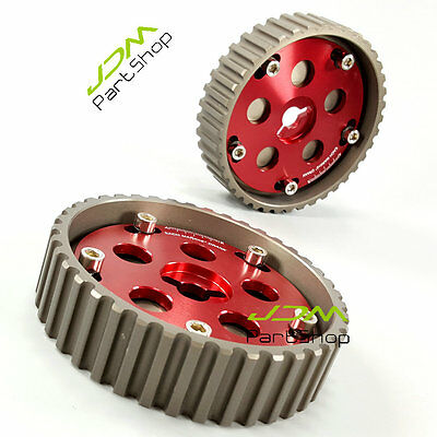 Adjustable FOR Suzuki Swift GTI G13B Cam Gear Pulley Kit Pair Red Fast Ship