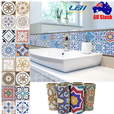 AU 5M Self Adhesive Tile Art Wall Decal Sticker DIY Kitchen Home Room Decor NEW