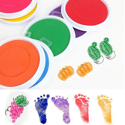 16cm Large Non-Toxic Ink Pad Stamp Print Craft Handprint Footprint For Baby