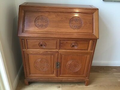 Solid Rosewood Secretaire Writing Desk