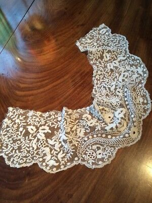Victorian Lace Collar. 22x5 Ins. Taken From Dress