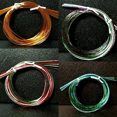 "Mizuhiki Japanese Paper Strings Cords Green Gold Red Purple 20 strands 35""  F/S"