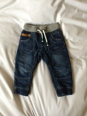 next baby boys soft jeans 9-12 months