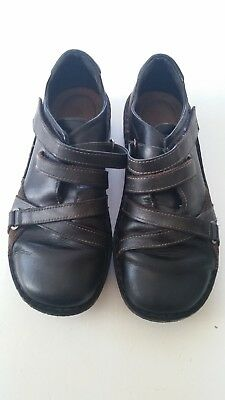 Naot Ladies Black & Brown Leather Flat Shoes Size 7.5-8